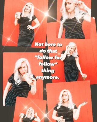 """Just FYI, I do t follow to follow. I follow to be...  ✨inspired 💫supported 🪐educated 💥shook 🌈included 🌙mystified  If you're a brand wanting collab and only follow me to get me to sign up for your """"15% discount"""" to share with my followers keep walking. I partner with brands making a difference not just looking to make a fast buck. ✌🏻  #followforfollowisstupid #hereforcommunity #community #buildingconfidence #buildingacommunity #positivity #realism #realisticexpectations #nottrendy #brandambassadors #buildingmyownthrone"""