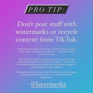 Important #reels Instagram update.  I share tips like this in my weekly Skimm style social media newsletter. Hit the link in my bio and sign up.