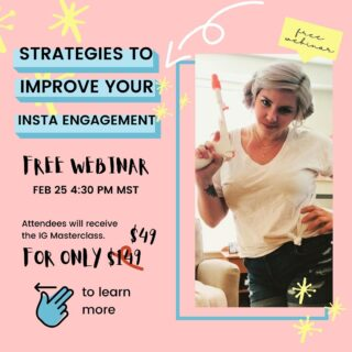 I'm really excited about this workshop! This free 60 minute workshop on February 25 is going to give you all the strategies you need to improve your Instagram's engagement!⁠⁠ ⁠⁠ There are so many guides and tutorials out there in the world showing you 11 ways, or 25 new ways you can improve your Instagram engagement. There are a handful of ways in which to create better engagement on your profile. ⁠⁠ ⁠⁠ If you want a few ways straight out the gate are...⁠⁠ ⁠⁠ 1. Create shareable or savable content for your Instagram feed⁠⁠ 2. Test in analyze new content⁠⁠ 3. Get quirky and fun with your content⁠⁠ 4. And a very wonderful Instagram engagement formula that I have generated and utilized with my clients and my personal profiles⁠⁠ ⁠⁠ During the 60 minute workshop I'm going to give you a handful of ideas regarding what you can do to increase your Instagram profiles engagement and I'm going to give you my engagement formula that has helped so many of my clients increase their engagement and Harness the power of their.⁠⁠ ⁠⁠ So buckle up and sign up for this week's 60 minute workshop on February 25 starting at 4:30 PM Mountain standard time.⁠⁠ ⁠⁠ ⁠⁠ .⁠⁠ .⁠⁠ .⁠⁠ .⁠⁠ .⁠⁠ .⁠⁠ #socialmediamanagement⁠⁠ #instagramforbusiness⁠⁠ #socialmediasuccess⁠⁠ #socialmediaconsultant⁠⁠ #marketingtools⁠⁠ #socialmediapromotion⁠⁠ #businessadvice⁠⁠ #instagramtips⁠⁠ #socialmediatip⁠⁠ #socialmediainfluencer⁠⁠ #creativitycoach⁠⁠ #creativitymatters⁠⁠ #creativityheals⁠⁠ #creativityrocks⁠⁠ #createyourhappy⁠⁠ #lifecoach2women⁠⁠ #lifecoaches⁠⁠ #businessassistant⁠⁠ #virtualassistantservices⁠⁠ #personalassistant⁠⁠ #virtualassistantservice⁠⁠ #virtualteam⁠⁠ #podcastersunite⁠⁠ #ontheblogsoon⁠⁠ #blogbossbabe⁠⁠ #podcastsofinstagram⁠⁠ #ontheblognow⁠⁠ #womenpodcasters⁠⁠ #femalepodcasts⁠⁠ #blogsleeprepeat